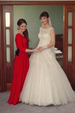 Платье вечернее в пол красное сукня максі