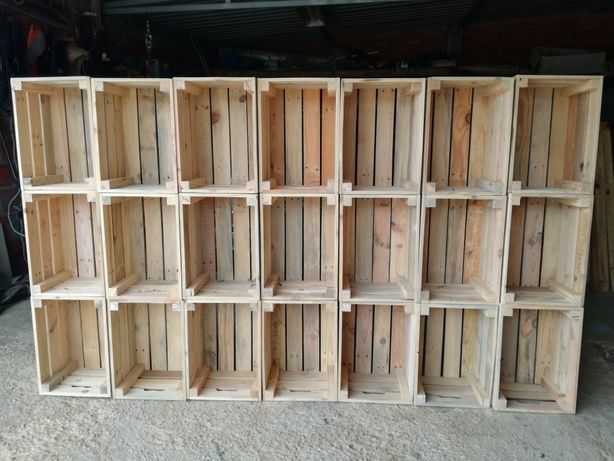 Caixas de arrumação madeira de palete - Vários tamanhos