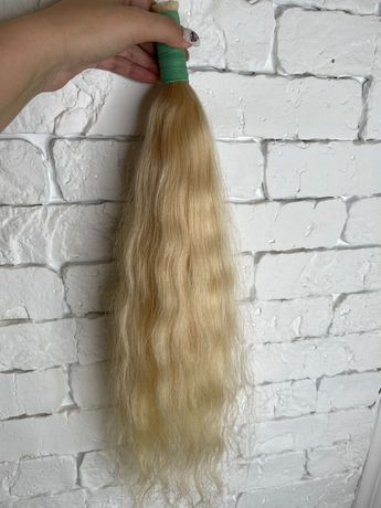 Натуральные волосы  блонд , волосы для наращивания