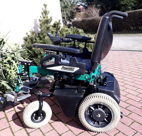 Elektryczny wózek inwalidzki Powertec F50 . Możliwość transportu .