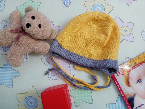 Шапка,  шапочка для ребенка с кулиской ручная работа