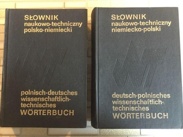 Słownik naukowo-techniczny polsko-niemiecki i niemiecko-polski; 2 tomy