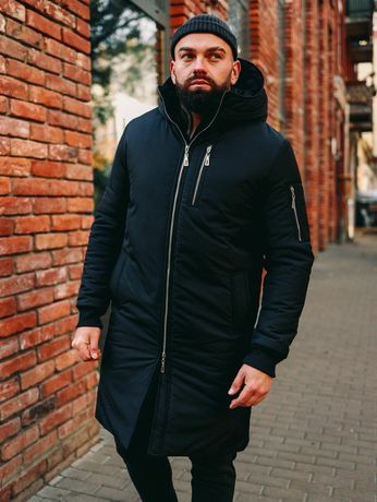 Мужская зимняя куртка парка снеговик 3 цвета
