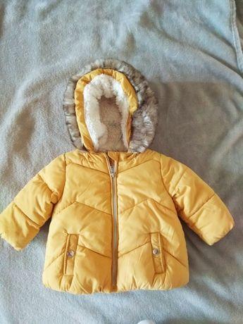 Зимняя куртка на малыша горчичный цвет.Фирма FRED FLO.