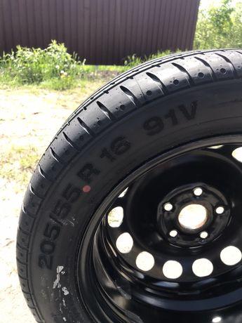 Новая Резина,запаска,колесо в сборе continental 205/55 r16 91v