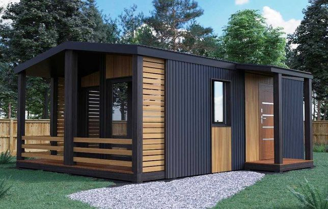 Модульный дом. Металло-каркасный дом. Дом из контейнера.
