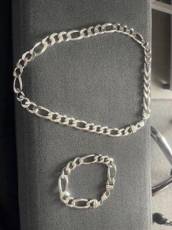 Srebrny łancuch prawie 200 gram