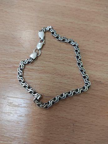 Мужская серебряная цепочка, 925 проба