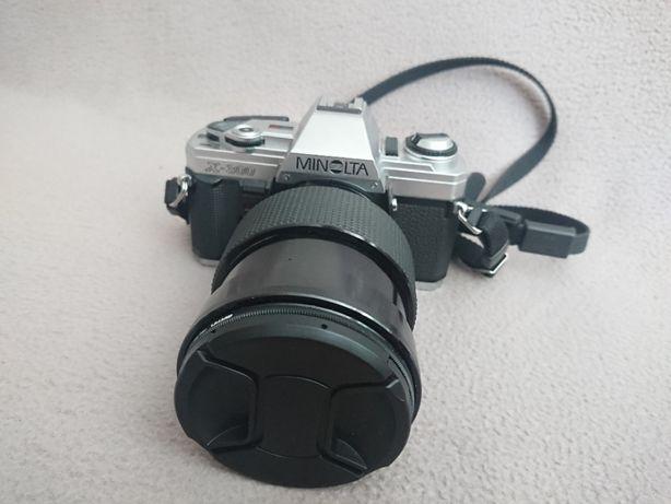 Aparat analogowy Minolta x300 + Vivitar Series 1 VMC 35-85mm f2.8