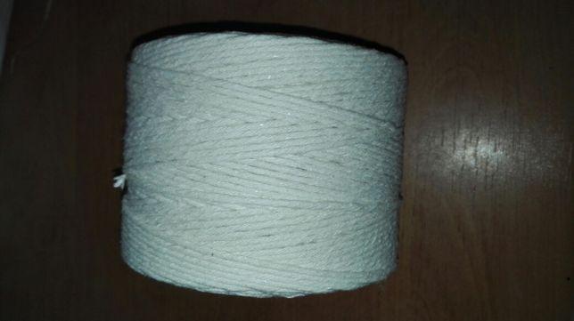 Nici wędliniarskie / przędza cienka biała op. 0,5 kg