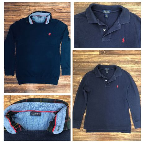 Фирменный реглан свитер рубашка джемпер пакет 140-146 р мальчик школа