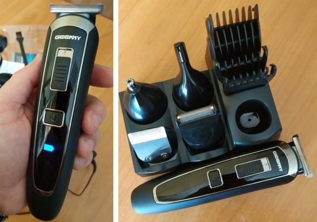 Мощный триимер бритва 5W 10 насадок Gemei GM-801 машинка для стрижки