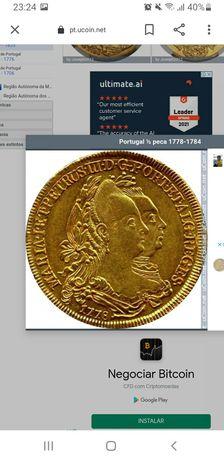 Moeda rara em ouro 1784