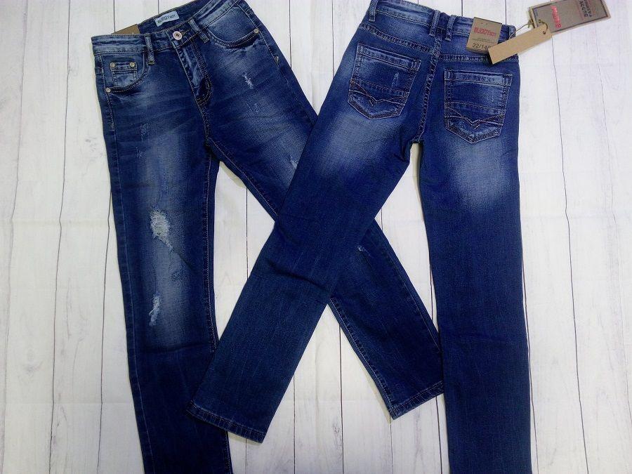 Стильные джинсы-рванки 140,146,158. Венгрия. Борисполь - изображение 1