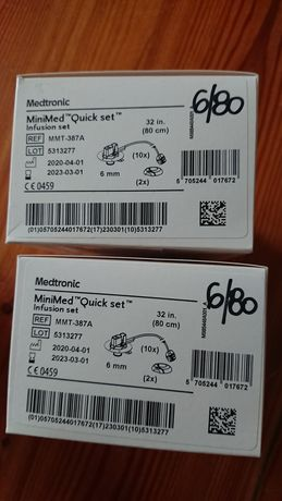 Wkłucia medtronic Quick set 6/80 zestaw infuzyjny