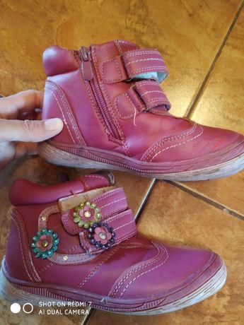 Ботинки осенние розовые на девочку 28-29