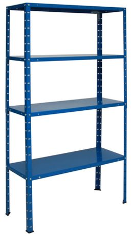 Regał metalowy magazynowy do piwnicy garażu 145x75x30cm niebieski
