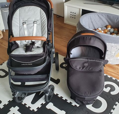 Wózek 2 w 1 Muuvo Quick kolor Onyx black