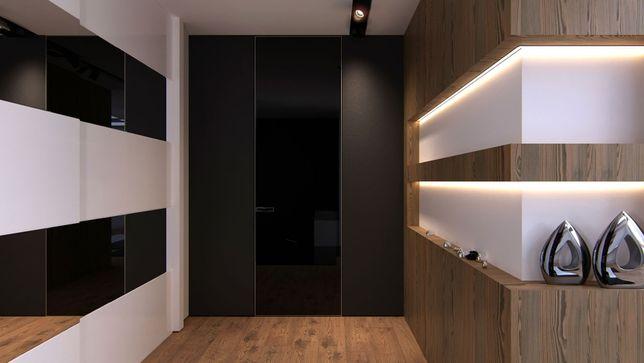 Алюминиевые дверные коробки высотой 2090мм (двери скрытого монтажа)