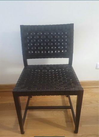 8 Cadeiras Design Nordicas Pele Loja Area Decoração