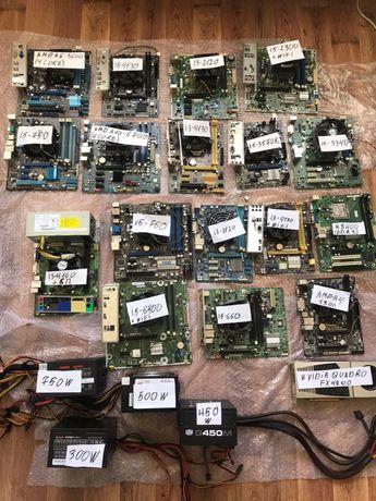 Материнские платы с процессорами I5-6400,3570K,3340,2300,760,750/4130