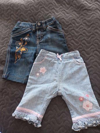 Spodnie jeansy dziewczęce 0-3 msc