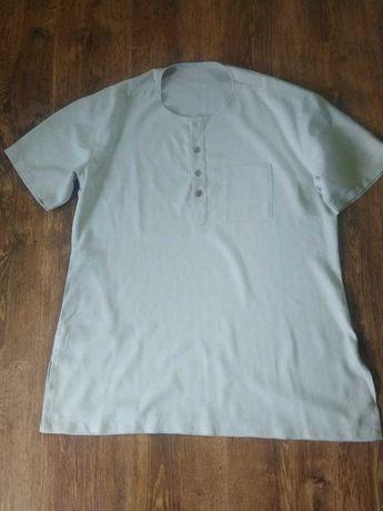Рубашка мужская из льна.