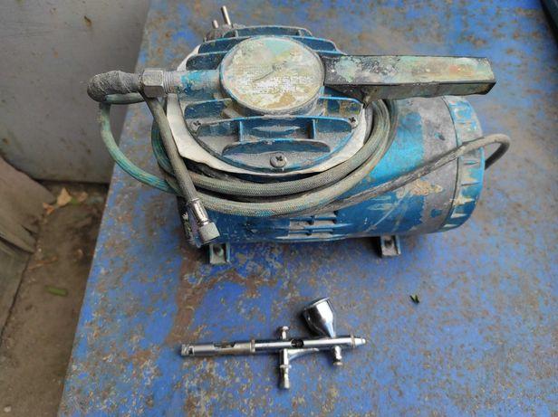Портативный мембранный компрессор для пневмоинструмента