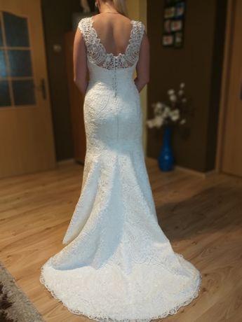 Śliczna suknia ślubna Fulara & Żywczyk włoska koronka + dodatki