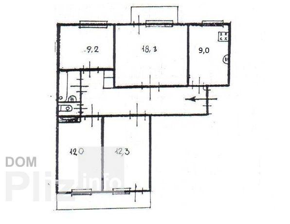 4-х комнатная квартира, ул. Ядова