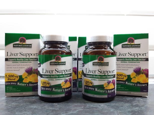 Natures Answer, Liver Support (90 капс.), для печени, силимарин