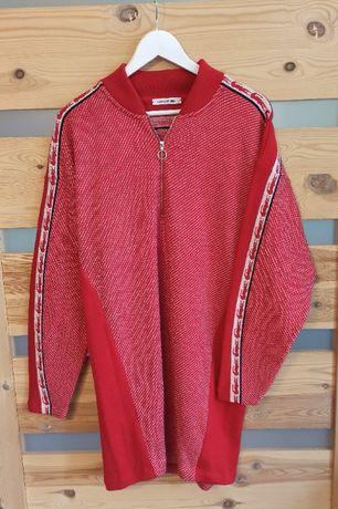 Lacoste sukienka sweter wełniany