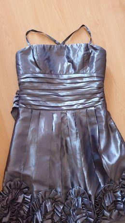 Vestido de cerimónia tamanho xl em cor chumbo