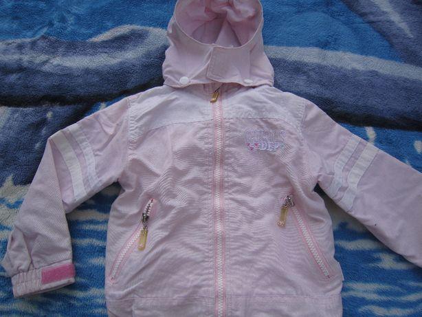Cienka, różowa kurtka dla dziewczynki w roz 98