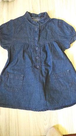 Sukienka jeansowa roz 74