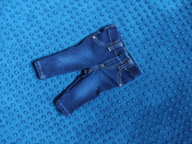 Jeansowe leginsy dla dziewczynki 0-3mcy