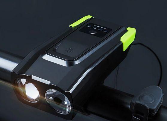 Внимание! Велофара с умным режимом и звонком, 2в1, аккум. USB зарядка.