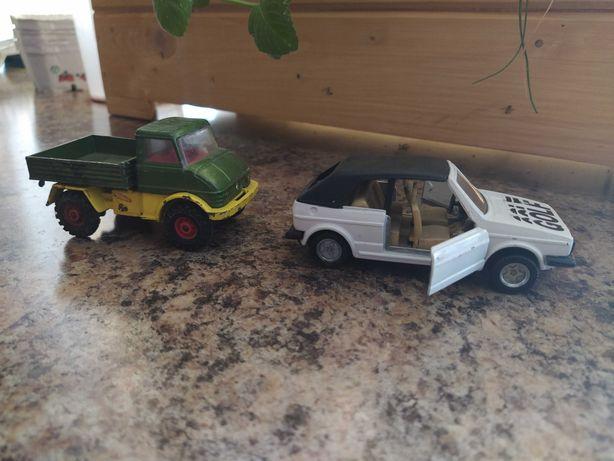 Mercedes Unimog,VW Golf 2,metalowe modele