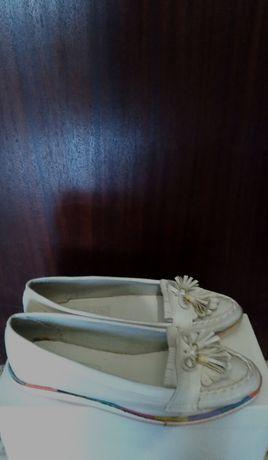 Новые лёгкие мягкие туфли тапочки мокасины на № 38. 24,5 см.
