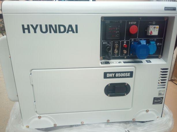 Генератор дизель в шумкорпусі 1 фаза HYUNDAI DHY8500SЕ 7,2 кВт