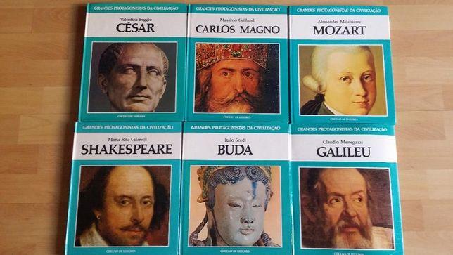 """Coleção de livros """"Grandes Protagonistas da Civilização"""""""