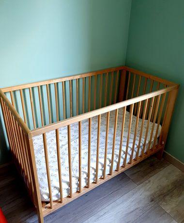 Łóżeczko dla dziecka Ikea z materacem