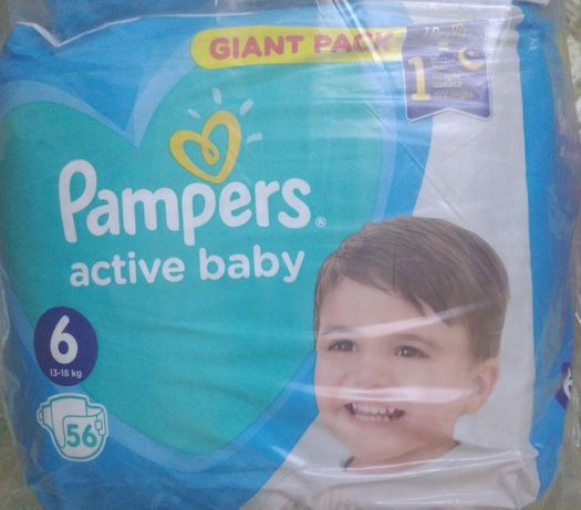 Підгузки «Pampers Active Baby-Dry гіант пак 6» 56шт