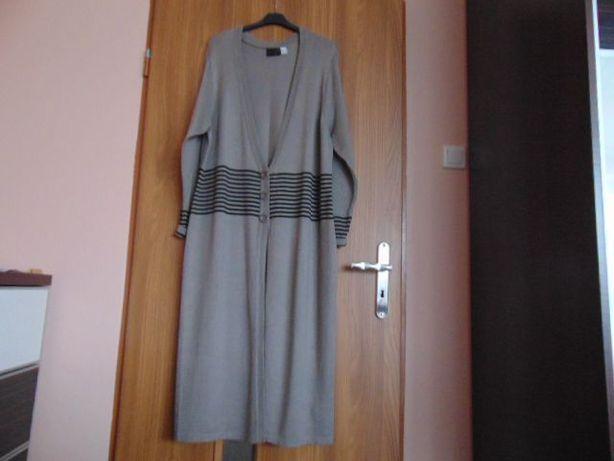 Płaszcz dzianinowy sweter długi bonprix
