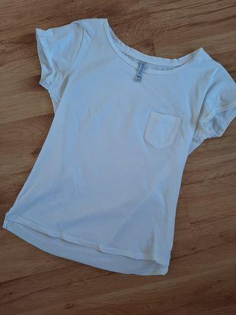 Komplet białych koszulek S 5 sztuk