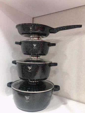 Посуда набор кастрюль и сковорода гранитное покрытие