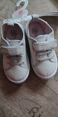 Nowe buciki trampki dla dziewczynki rozmiar 25