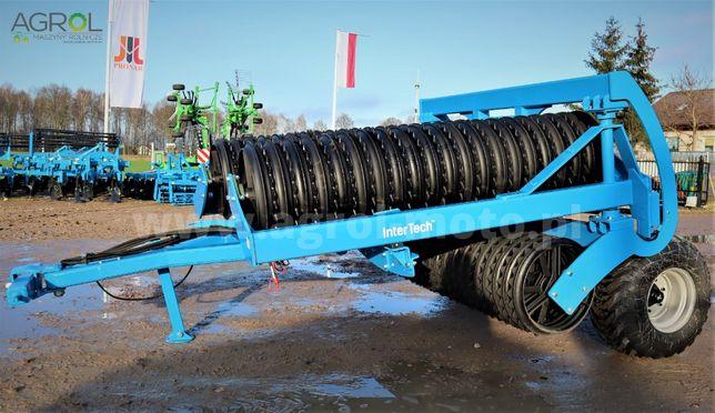 Wał uprawowy na kołach hydrauliczny Inter-tech masywny 6,3 fi600