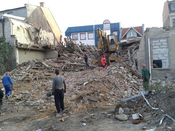 Rozbiórki, wyburzenia budynków,domów,obiektów,prace,roboty rozbiórkowe