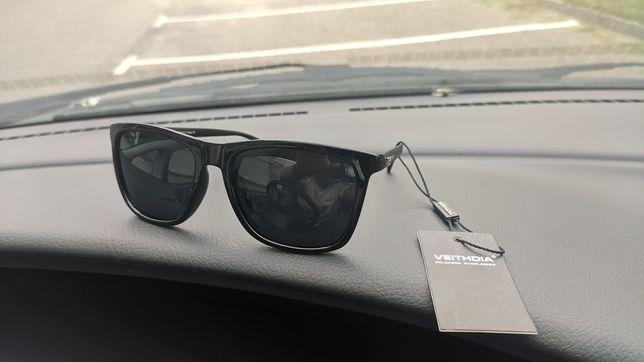 Okulary przeciwsłoneczne Veithdia polaryzacja magnezowe zauszniki